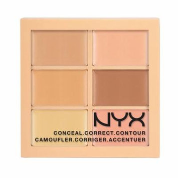 (6 Pack) NYX Conceal, Correct, Contour Palette - Light
