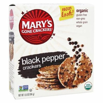 Mary's Gone Crackers - Organic Crackers Black Pepper - 6.5 oz (pack of 12)