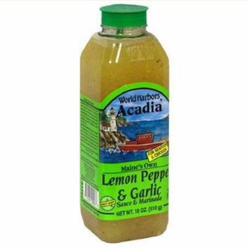 6 Pack : World Harbors Lemon Pepper & Garlic Sauce & Marinade, 16 FZ