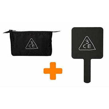3CE Stylenanda Square Mini Black Makeup Mirror + Small Pouch 3 concept eyes