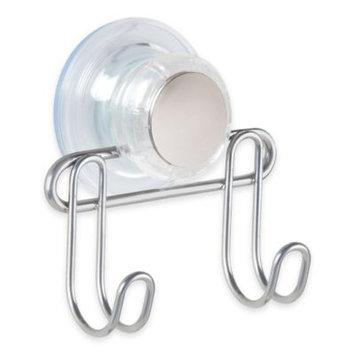 InterDesign Turn-N-Lock 2-Hook Suction Bar