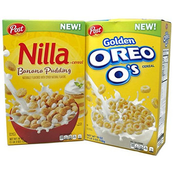 Variety Pack - Post Cereal (1 lb 3 oz) - Golden Oreo Os, Nilla Banana Pudding