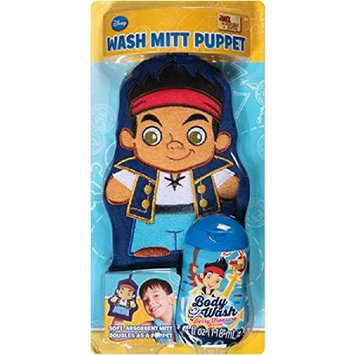 Disney Jake and the Neverland Pirates Berry Treasure Wash Mitt Puppet Bath Gift Set, 2 pc