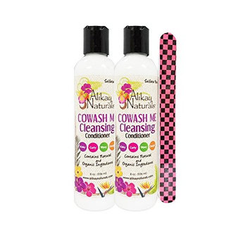 Alikay Naturals Cowash Me Cleansing Conditioner 8 oz Pack of 2 w/FREE Nail File