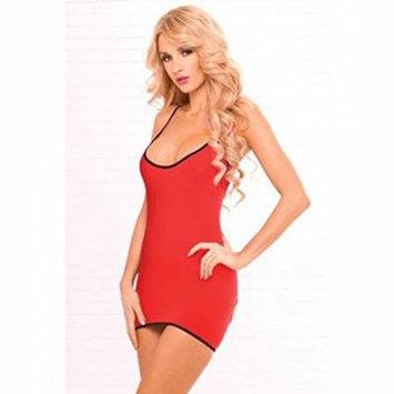 Pink Lipstick Women's Seamless Back Cutout Dress, Red, One Size