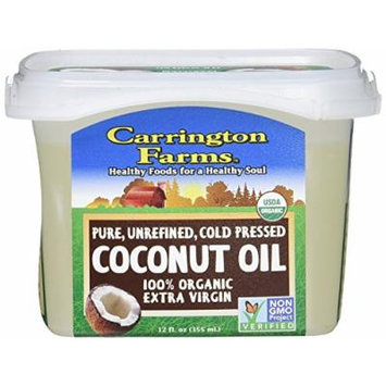 Carrington Farms Organic Extra Virgin Coconut Oil, 12 Ounce (Pack of 3)