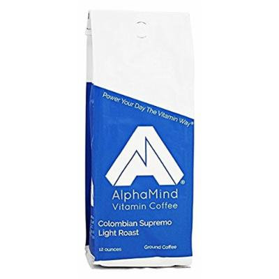 AlphaMind Vitamin Coffee Colombian Supremo - The Best Light Roast Coffee With Added Vitamins and Minerals