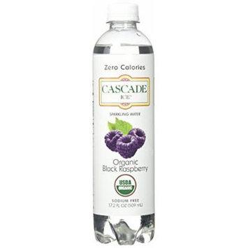 Cascade Ice Organic Sparkling Water, Black Raspberry, 17.2 Fluid Ounce (Pack of 12)