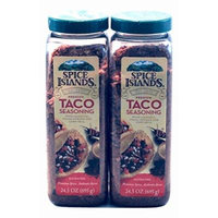 2 Pack Spice Islands Premium Taco Seasoning with Chipotle Cocoa Powder and Corn Meal. Gluten Free
