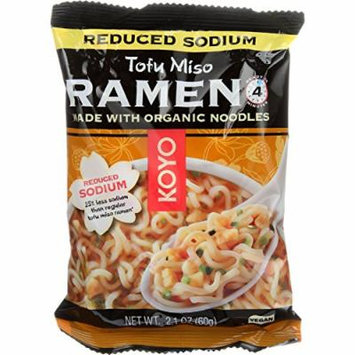 Koyo Ramen - Organic - Tofu Miso - Reduced Sodium - 2.1 oz - case of 12 - 70%+ Organic - Vegan