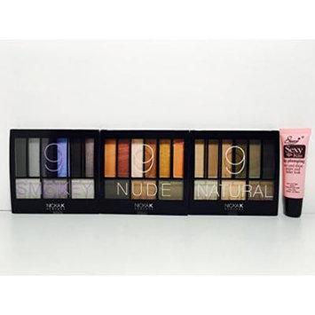 Nicka K Make Up Palette Trio : Perfect 9 Nude AP032, Perfect 9 Natural & Perfect 9 Smokey AP034 (27 Eye Shadows) Free Starry Sexy Lip Plumping Gloss 10ml