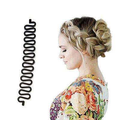Chartsea Hair Braiding Tool Roller With Hook Magic Hair Twist Styling Bun Maker