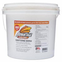 2XL Gym Wipes Advantage, 8 x 6, White, Unscented, 900/Roll, 2/CT