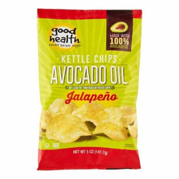 Good Health Avocado Oil Kettle Chips, Jalapeno, 5 Oz