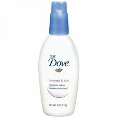 Dove Weightless Moisturizers Smooth and Soft Anti-Frizz Cream, 4 Ounce (113g)