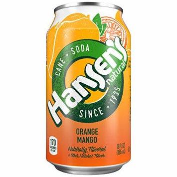 Hansen's Cane Soda (Orange Mango, 12 fl oz, Pack of 24)
