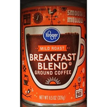 Kroger Mild Roast Breakfast Blend Ground Coffee 11.5 oz (Pack of 2)
