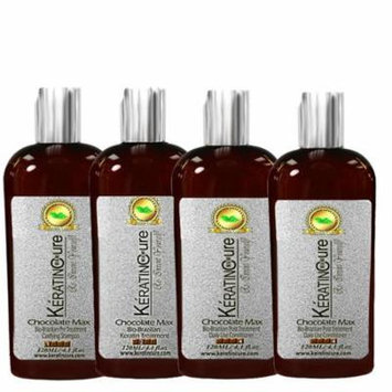 Keratin Cure Brazilian Complex Blow Out Smoothing Chocolate Bio Hair Treatment Kit 4 Bottles Kit Argan Oil 5 piece 120 ML 4 oz
