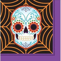 Day of the Dead Lunch Napkins , 4PK
