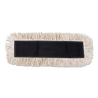 Disposable Dust Mop Head w/Sewn Center Fringe, Cotton/Synthetic, 36w x 5d, White, Sold as 1 Each