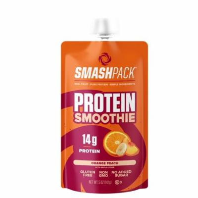 SmashPack Real Fruit and Protein Smoothie Squeeze Snack - Soy Free, Gluten Free, No Added Sugar, No Artificial Ingredients, Non-GMO - 14g of Quality Protein per Smoothie - On-The-Go Energy Snack