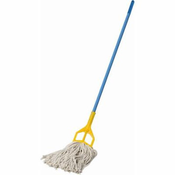 Mop with Plastic Push Premium Industrial Strength Heavy Duty Looped-End String Mop Floor Cleaning Kitchen Office