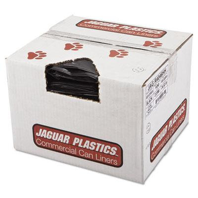 Repro Low-Density Can Liners, 2 Mil, 40 x 46, Black, 100/Carton, Sold as 1 Carton, 100 Each per Carton