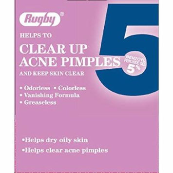 4 Pack - Rugby Acne Medication 5, Benzoyl Peroxide 5%, 1 Oz Each