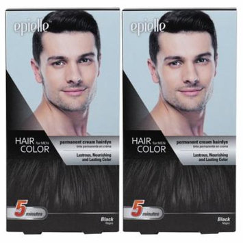 Kareway Epielle Hair Color for Men-Black (Pack of 2)