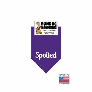 MINI Fun Dog Bandana - SPOILED - Miniature Size for Small Dogs under 20 lbs, purple pet scarf