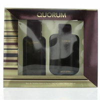 Antonio Puig GSMQUORUM2PC3.4AS Mens Quorum Eau De Toilette Spray Gift Set - 2 Piece