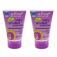 Alba Botanica Very Emollient Mineral Spray Sunscreen SPF 35, Fragrance Free, 6 Oz (2 Pack)