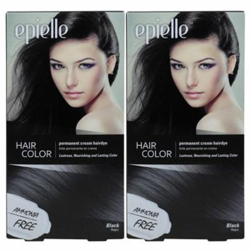 Kareway Epielle Hair Color for Women-Black (Pack of 2)