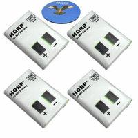 HQRP FOUR Batteries for Motorola M53617, KEBT-086-A, KEBT-086-B, KEBT-086-C, KEBT-086-D + HQRP Coaster
