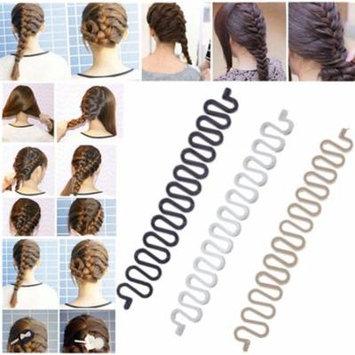 1x Hair Braiding Tool Roller With Magic Twist Styling Stick Bun Maker