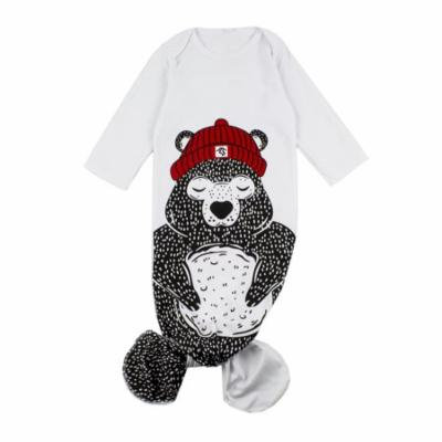 StylesILove Cute Animal Print Unisex-Baby Mermaid Inspired Wrap Sleeping Bag (80/6-12 Months, Bear)