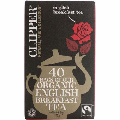 (2 Pack) - Clipper - F/T Organic English Breakfast | 40 Bag | 2 PACK BUNDLE