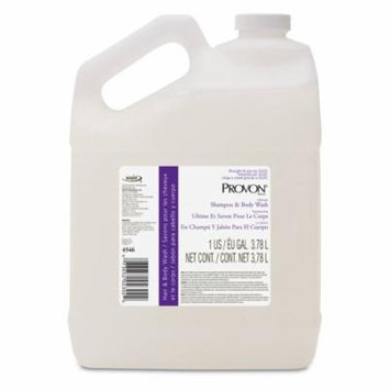 PROVON 4546-04 Ultimate Shampoo and Body Wash, 1 Gallon, Herbal Fragrance, Pearl Case of 4 - 6 Pack