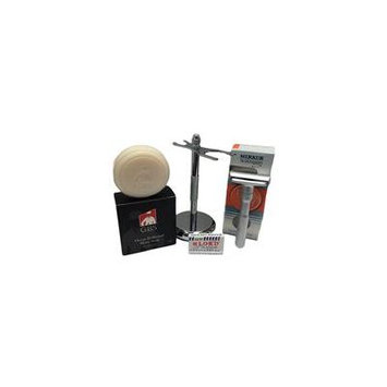 Merkur Futur Silver Matte Razor (700) with Gbs Ocean Driftwood Shave Soap, Br...