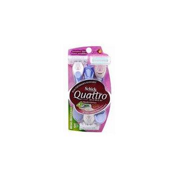 Schick Quattro For Women High Performance Disposable Razors, Sensitive Skin - 3 Ea