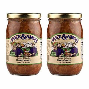 Jake & Amos Sweet Chipotle Sauerkraut / 2 - 16 Oz. Jars