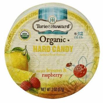 Torie & Howard Organic Hard Candy Meyer Lemon & Raspberry -- 2 oz pack of 3