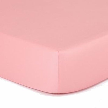 The Peanut Shell Peanut Shell Mix And Match Solid Crib Sheet, Girls, Coral