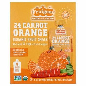 Fruigees 24 Carrot Orange Organic Fruit Snack, 4 count, 3.5 oz, 6 pack