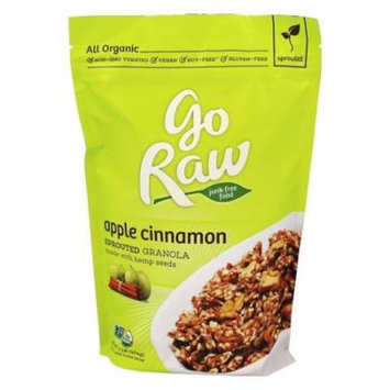 Go Raw - Sprouted Granola Made with Hemp Seeds Apple Cinnamon - 1 lb(pack of 4)