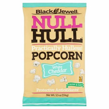 Black Jewell Null Hull White Cheddar Popcorn, 5.5 oz, 8 pack