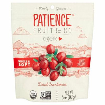 Patience Fruit & Co Organic Dried Cranberries, 5 oz, 8 pack