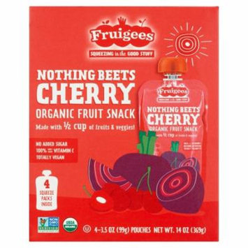 Fruigees Nothing Beets Cherry Organic Fruit Snack, 4 count, 3.5 oz, 6 pack