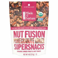 Made in Nature Organic Supersnacks Nut Fusion Pomegranate Ginger, 4 oz, 6 pack