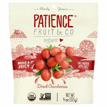 Patience Fruit & Co Whole & Juicy Organic Dried Cranberries, 4 oz, 8 pack